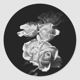 Black and white roses sticker