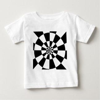 Black and White Round Spiral Baby T-Shirt