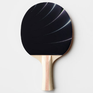 Black and White Royal Fractal Ping-Pong Paddle