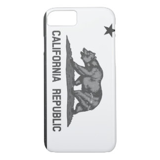 Black and White Rugged California Republic iPhone 7 Case