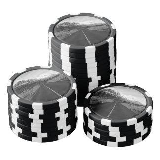 Black and White Rural Iceland Poker Chips Set