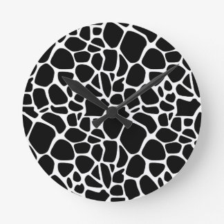 Black and white safari wallclock