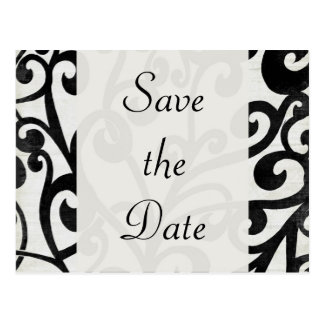 Black and White! Save the Date Postcard