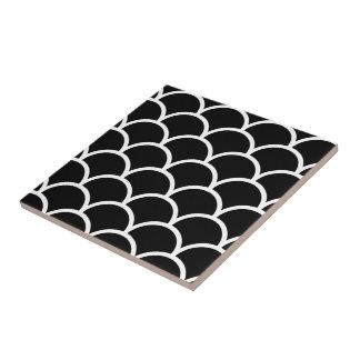 Black and White Scallop Tile