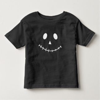 Black and White Scary Jack O Lantern Halloween Pum Toddler T-shirt
