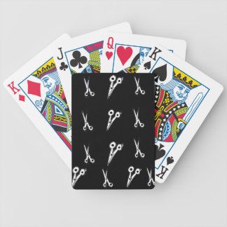 Black and White Scissor Pattern playing cards