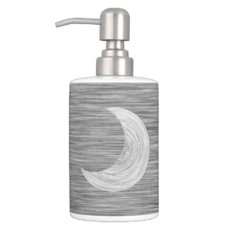Black and White Scratch Texture Moon Sun Aztec Bathroom Set