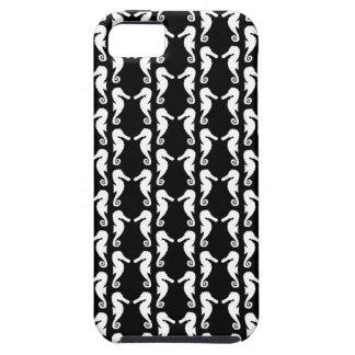 Black and White Seahorses Pattern. iPhone 5 Case