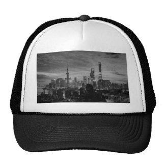 Black and White Shanghai Trucker Hat