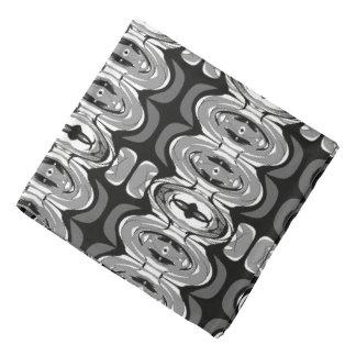 Black and White Shape Art Bandana