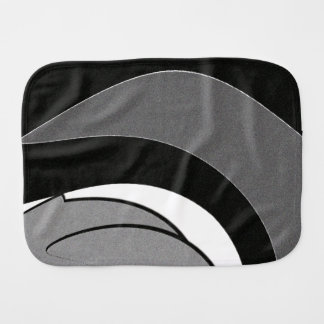 Black and White Shape Art Burp Cloth