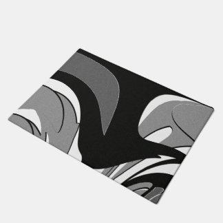 Black and White Shape Art Doormat