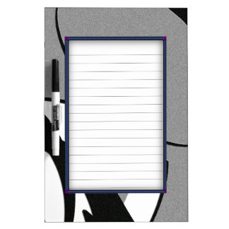 Black and White Shape Art Dry Erase Board