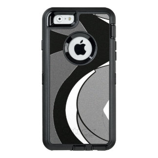 Black and White Shape Art OtterBox Defender iPhone Case