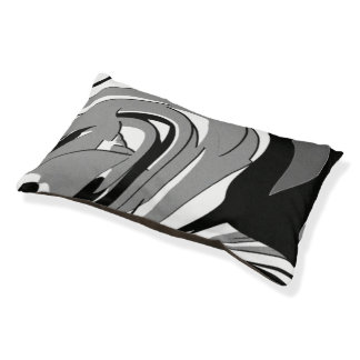 Black and White Shape Art Pet Bed