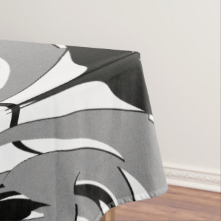 Black and White Shape Art Tablecloth