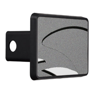 Black and White Shape Art Trailer Hitch Cover