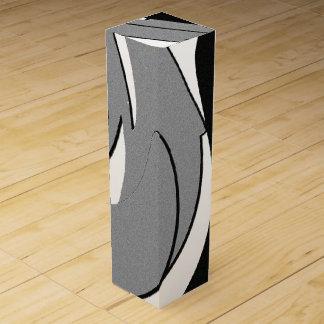 Black and White Shape Art Wine Box