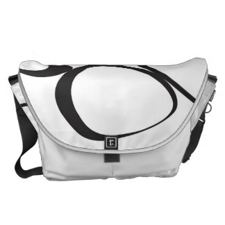 Black and White Shape Collage Messenger Bag