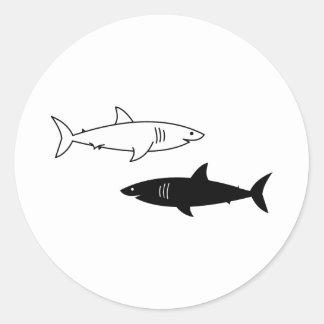 Black and White Sharks Sticker
