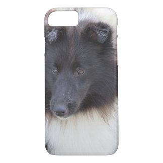 Black and White Sheltie iPhone 8/7 Case