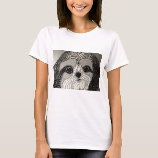 Black and White Shih-Tzu T-Shirt