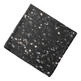 Black and white shiny glitter sparkles bandana
