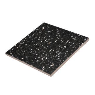 Black and white shiny glitter sparkles tile