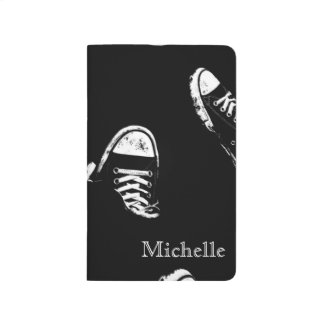 Black and White Shoe Sneaker Journal Notebook