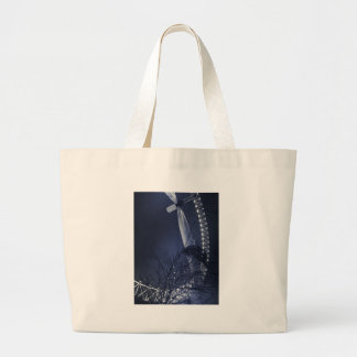 Black and white side of london eye canvas bag