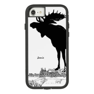 Black and White Silhouette Vintage Moose Wolf Case-Mate Tough Extreme iPhone 7 Case