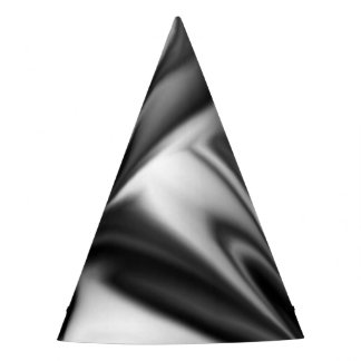 Black and White Silk Folds Party Hat