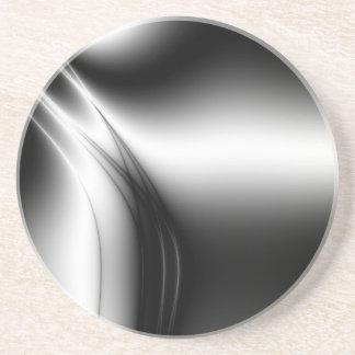 Black and White Silk Look Estuary Coasters