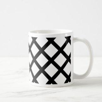 Black and white simple pattern coffee mug