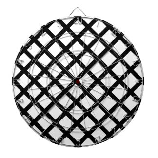 Black and white simple pattern dartboards