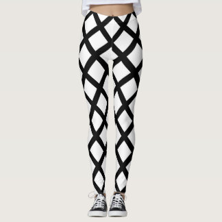Black and white simple pattern Leggings