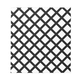Black and white simple pattern notepad