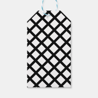 Black and white simple pattern pack of gift tags