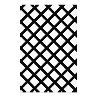 Black and white simple pattern stationery paper