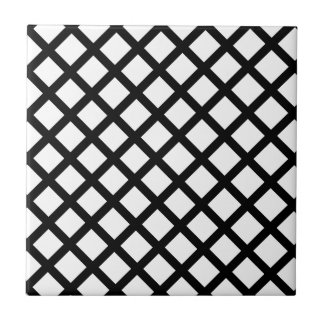 Black and white simple pattern tile