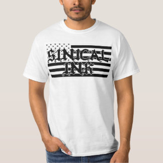 Black and White Sinical Ink Made In America T-Shirt