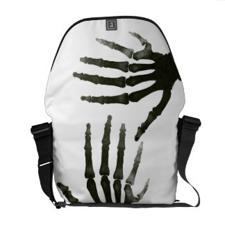 Black and White Six Finger Skeleton Xray Bone Courier Bags