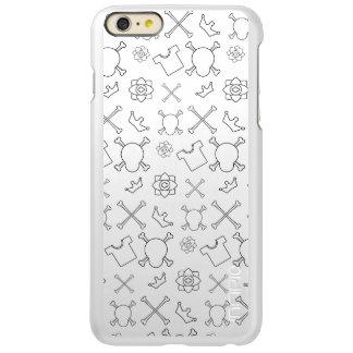 Black and white Skull and Bones pattern