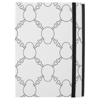 "Black and white Skull and Bones pattern iPad Pro 12.9"" Case"