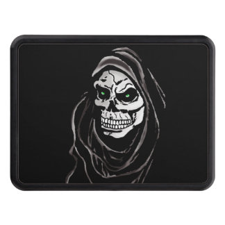 Black and white skull dead grim reaper tow hitch covers