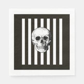Black and white skull napkins disposable napkins
