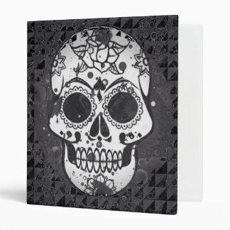 black and white Skull Vinyl Binder