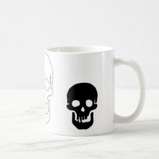 Black and White Skulls of three Coffee Mug