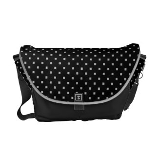 Black and White Small Geometrical Pattern Messenger Bag
