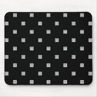 Black and White Small Geometrical Pattern Mouse Pad